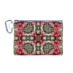 Flowers Fabric Canvas Cosmetic Bag (M)