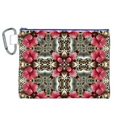 Flowers Fabric Canvas Cosmetic Bag (XL)