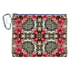 Flowers Fabric Canvas Cosmetic Bag (xxl)
