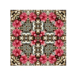 Flowers Fabric Small Satin Scarf (Square)