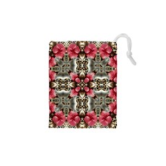 Flowers Fabric Drawstring Pouches (XS)