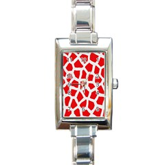Animal Animalistic Pattern Rectangle Italian Charm Watch