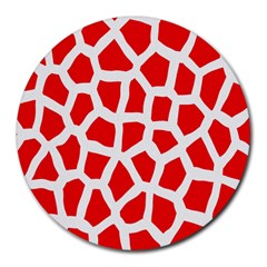 Animal Animalistic Pattern Round Mousepads