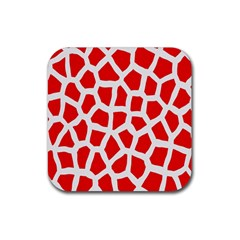 Animal Animalistic Pattern Rubber Square Coaster (4 Pack)
