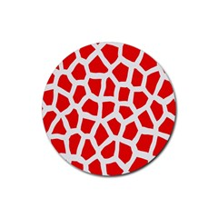 Animal Animalistic Pattern Rubber Round Coaster (4 pack)