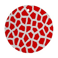 Animal Animalistic Pattern Round Ornament (two Sides)