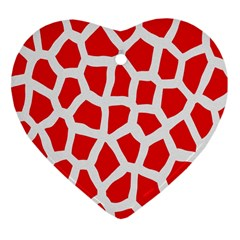 Animal Animalistic Pattern Heart Ornament (two Sides)