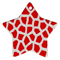 Animal Animalistic Pattern Star Ornament (two Sides)