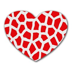 Animal Animalistic Pattern Heart Mousepads