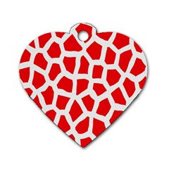 Animal Animalistic Pattern Dog Tag Heart (two Sides)