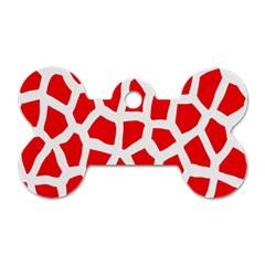 Animal Animalistic Pattern Dog Tag Bone (One Side)