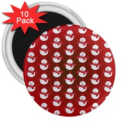 Card Cartoon Christmas Cold 3  Magnets (10 pack)