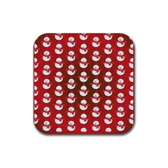 Card Cartoon Christmas Cold Rubber Square Coaster (4 pack)