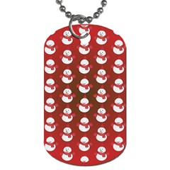 Card Cartoon Christmas Cold Dog Tag (one Side)