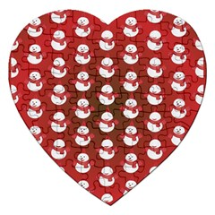 Card Cartoon Christmas Cold Jigsaw Puzzle (heart)