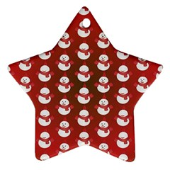 Card Cartoon Christmas Cold Star Ornament (two Sides)
