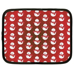 Card Cartoon Christmas Cold Netbook Case (large)