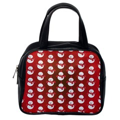 Card Cartoon Christmas Cold Classic Handbags (One Side)