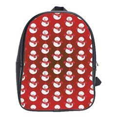 Card Cartoon Christmas Cold School Bags(Large)
