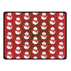 Card Cartoon Christmas Cold Fleece Blanket (small)