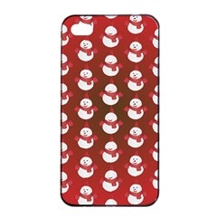Card Cartoon Christmas Cold Apple Iphone 4/4s Seamless Case (black)