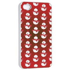 Card Cartoon Christmas Cold Apple iPhone 4/4s Seamless Case (White)