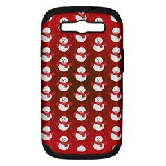 Card Cartoon Christmas Cold Samsung Galaxy S III Hardshell Case (PC+Silicone)