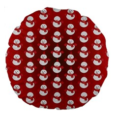 Card Cartoon Christmas Cold Large 18  Premium Round Cushions