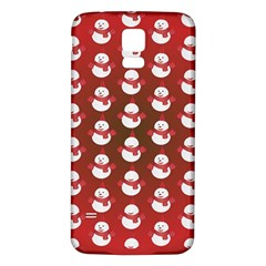 Card Cartoon Christmas Cold Samsung Galaxy S5 Back Case (White)