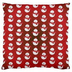 Card Cartoon Christmas Cold Standard Flano Cushion Case (two Sides)