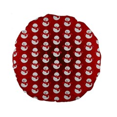 Card Cartoon Christmas Cold Standard 15  Premium Flano Round Cushions