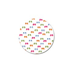 Pattern Birds Cute Design Nature Golf Ball Marker