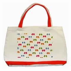 Pattern Birds Cute Design Nature Classic Tote Bag (red)
