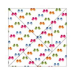 Pattern Birds Cute Design Nature Acrylic Tangram Puzzle (6  X 6 )
