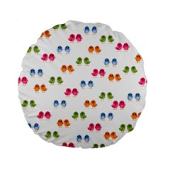 Pattern Birds Cute Design Nature Standard 15  Premium Round Cushions