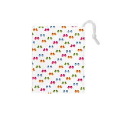 Pattern Birds Cute Design Nature Drawstring Pouches (small)