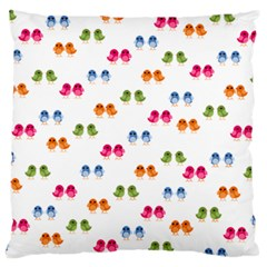 Pattern Birds Cute Design Nature Large Flano Cushion Case (one Side)