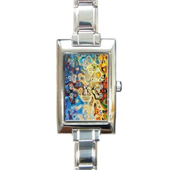 Background Structure Absstrakt Color Texture Rectangle Italian Charm Watch