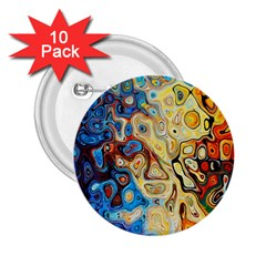 Background Structure Absstrakt Color Texture 2.25  Buttons (10 pack)