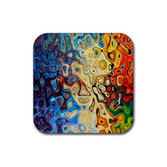 Background Structure Absstrakt Color Texture Rubber Square Coaster (4 Pack)