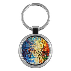 Background Structure Absstrakt Color Texture Key Chains (Round)