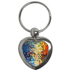 Background Structure Absstrakt Color Texture Key Chains (heart)