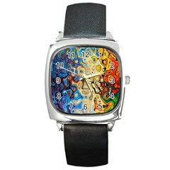 Background Structure Absstrakt Color Texture Square Metal Watch