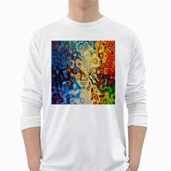 Background Structure Absstrakt Color Texture White Long Sleeve T Shirts