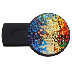 Background Structure Absstrakt Color Texture Usb Flash Drive Round (4 Gb)