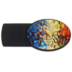 Background Structure Absstrakt Color Texture Usb Flash Drive Oval (4 Gb)