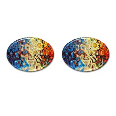 Background Structure Absstrakt Color Texture Cufflinks (oval)