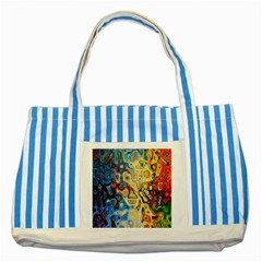Background Structure Absstrakt Color Texture Striped Blue Tote Bag