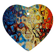 Background Structure Absstrakt Color Texture Heart Ornament (two Sides)