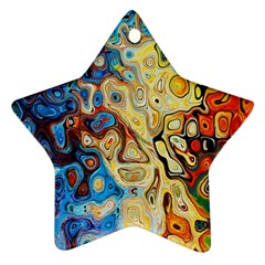 Background Structure Absstrakt Color Texture Star Ornament (two Sides)